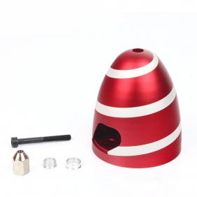 Aluminium Spinner Spiral Red 2.5 inch